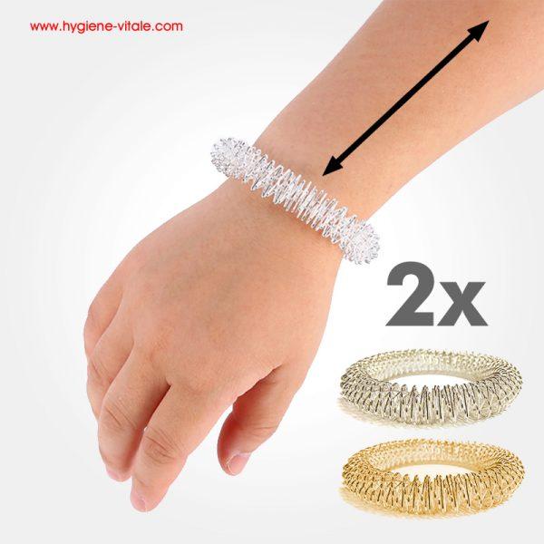 2 bracelets energetique massage acupuncture
