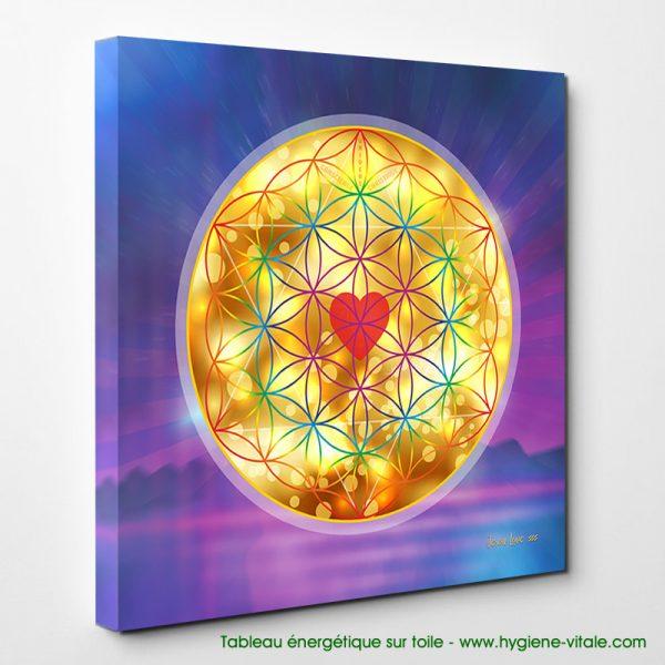 Tableau énergétique - Fleur de vie - Amour Divin - Jeson Love (2)